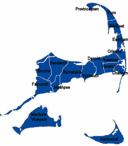 Cape Cod Town Map